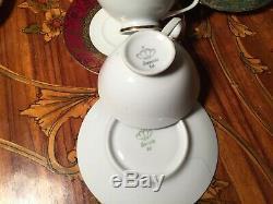 12 Cups 12 Saucers Set Rare Vintage Bavaria Germany Porcelain Coffee Set