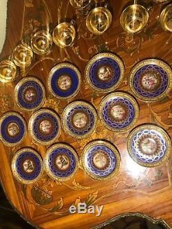 12 Cups 12 Saucers Set Rare Vintage Royal Epiag Germany Porcelain Coffee Set