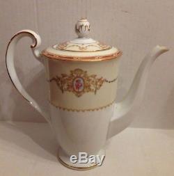 18 PCS VTG Noritake Nippon Toki Kaisha # 1802 Tea Set Coffee Set Teapot MINT