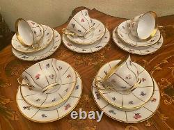 1960s Vintage 5 cups Saucers Cake Plates Danish KPM Coffee Set