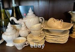 22 Piece Vintage Royal Copenhagen Triton, Konkylie Coffee Set & Bowl Ex Cond