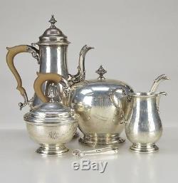 5-pc Birks Canada Vintage Sterling Silver Sugar Creamer Coffee / Tea Set 74 Oz