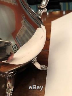 6 Piece Vintage Wallace Baroque Silverplate Tea Coffee Set Creamer Sugar Tray