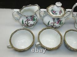 9 Piece Vintage Wedgwood Indian Tree Pattern Bone China Coffee/Tea Set