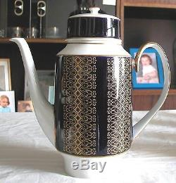 A FINE VINTAGE GERMAN DINNER & TEA OR COFFEE BLUE KOBALT SET BY WEIMAR 72psc(S)