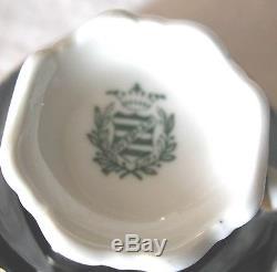 A FINE VINTAGE GERMAN MOCKA OR COFFEE BLUE KOBAT SET FOR 6 BY WEIMAR(s)