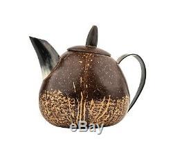 A Vintage Modernist Form Gourd & Horn Coffee Set
