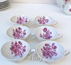 Alka Bavaria Vintage Tea pot creamer Cups Saucers Dessert Plates service 21 pc