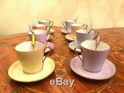 Antique Vintage 8 Cups and 8 Saucer 8 Tea spoons Porcelain Coffee Set