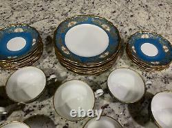 Antique Vintage Weimar Katherine Blue Gold Gilded Tea/ Coffee Set! Very Rare