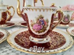 Art Deco, Vintage Limoges Porcelain Coffee set, bone china, Fragonard Decor