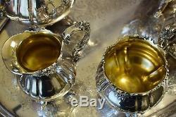 Baroque Tea & Coffee Set by Wallace 6 piece Vintage Set