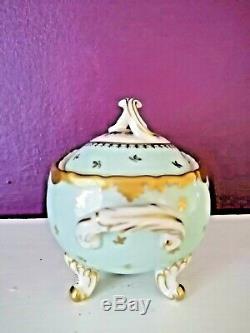 Beautiful French Vintage Coffee Set Limoges Havilande Porcelain Decor by Raynaud