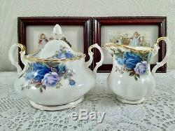 Bueatiful Set Royal Albert Moonlight Rose Vintage Tea Set, Coffee set Bone China
