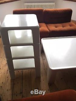 C&B Amanta Mario Bellini Set Sofa Chairs / Coffee Table / Table Nest Vintage