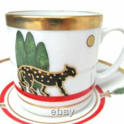 Cartier Vintage Authentic espresso Cup Saucer set Coffee Tea