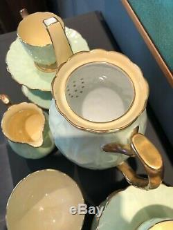 Circa 1934 Vintage Aynsley Demitasse Crocus Coffee Set