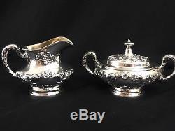 Excellent Vintage 6 Pc Gorham Buttercup Sterling Tea Coffee Set