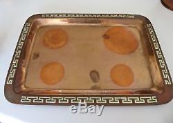 Fabulous Vintage Los Castillo Copper Brass Coffee Tea Set 4 Pieces Heavy TA-01