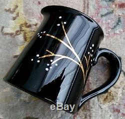 Fantastic Vintage Gibsons Pottery English Lustre Ware Gold Gilded Coffee Set