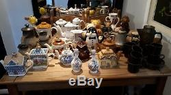 HUGE Job Lot Of Vintage Coffee & Tea Pots/Sets Vases Money Boxes etc