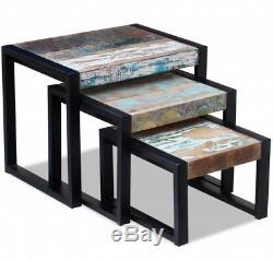 Industrial Nest Tables Vintage End Furniture Side Coffee Table 3 Room Metal Set