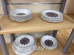 J & G Meakin Rondo 60 Piece Dinner Service Tea/coffee Set Vgc Vintage Retro