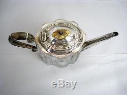 Lot of 4 Vintage SilverPlate Tea Set Sugar Cream Teapot Coffee Pot Antique 809