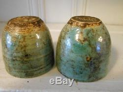 McCarty Pottery Coffee Cups Set of 2 Vintage Turquoise