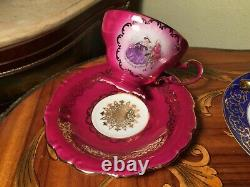 Mixed 6 Cups and Saucers Vintage German Gloria Coffee Porcelain Set