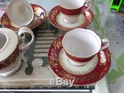 NAGASE CHINA Rare Vintage Tea Coffee set, 6 Cups & Saucers, Milk Jug & Coffee Pot