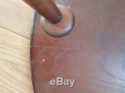 Original dark colour vintage Ercol Pebble nest 3 set Coffee Tables. Used