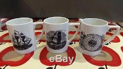 PORTMEIRION Sailing Ships Vintage Serif Coffee Set by Susan Williams-Ellis