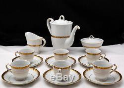Porcelain Demitasse Coffee Set Goldenkey 4360 Vintage MCM Seyei Setomono Japan