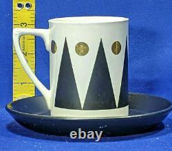 Portmeirion GOLD DIAMOND 15 Piece Cylinder Coffee Set UNUSED Rare Vintage 1960s