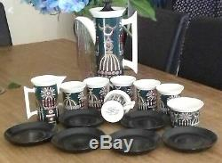 Portmeirions Magic City 16 piece 1960, s Rare Vintage Coffee Pot Set