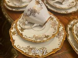 RARE Vintage 12 cups 12 Srs Pot Milk German Reichenbach Full Mocca Coffee Set