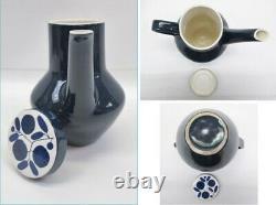 RARE Vintage Melitta Germany Cobalt Blue Floral Stockholm Pattern 1970s Table