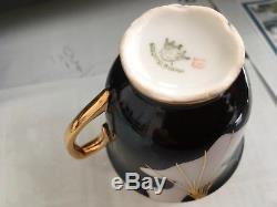 RGK Czechoslovak Vintage Art Deco Tea Coffee set, 6 Cups & Saucers, Display Case