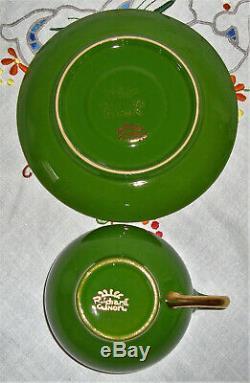 RICHARD GINORI Green and Gold Vintage Coffee Set