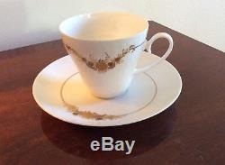ROSENTHAL Vintage Romance Coffee Set Service for 8 White Gold Porcelain Medley