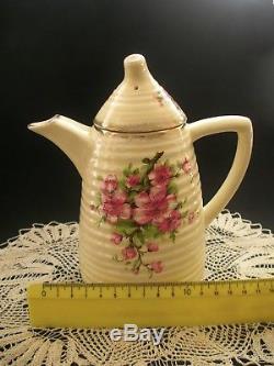 Rare CLARICE CLIFF COFFEE SET Vintage Art Deco China 16 Piece Lynton Bee Hive