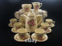 Rare Clarice Cliff Vintage Art Deco Original China 16 Piece Lynton Coffee Set