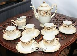 Rare Vintage (1920) Fine China Chikaramachi Complete Set For 6 Persons Sku15087