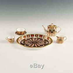 Rare Vintage 6-Piece Royal Crown Derby Old Imari Miniature Tea/Coffee Set 1128