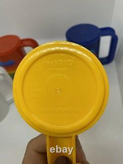 Rare Vintage 80's Apple Computer Rainbow Set Coffee Cup Mug Macintosh Logo