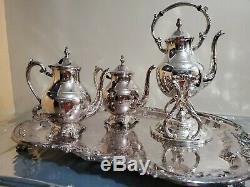 Rare, Vintage F. B. Rogers Silver Company 4 pieces tea / coffee set