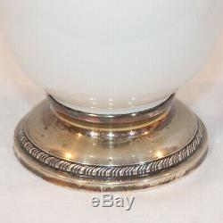 Rare Vintage Lenox T328 China Porcelain & Sterling Silver Base Coffee Set Mint