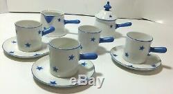 Rare Vintage Porcelain CZECHOSLOVAKIA DEMITASSE Art Deco Espresso Coffee Set