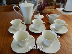Rhenania W. Germany COFFEE TEA SERVING SET 15 Pc. Vintage white Bone China